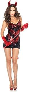 red sequin devil dress