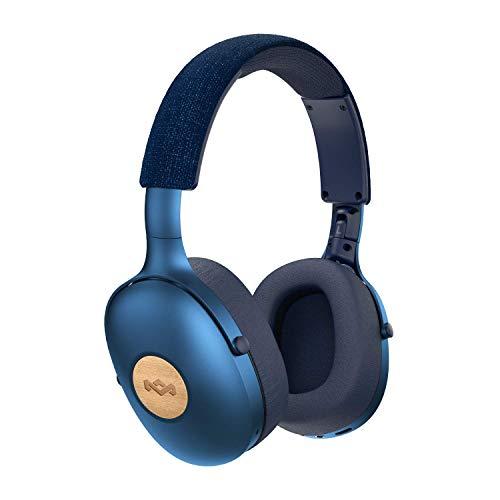 Positive Vibration XL kabellose Kopfhörer (Bluetooth, kompakt, Over-Ear Kopfhörer, Schnellladung, 24 Stunden Akkulaufzeit, iPhone/Android kompatibel, On-Board Mikrofon und Lautstärkeregler)