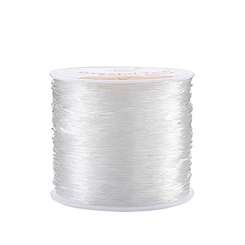 Filo Gioielli 0.8 mm Filo Elastico di Cristallo di Trasparente Misto per Fare Perline Braccialetti e Collane Fai Da Te 50m