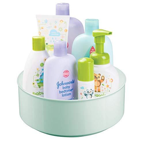 mDesign drehbare Ablage für Zubehör – stilvolle Ablagefläche für Babyausstattung wie Flaschen und...