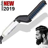 Hombres la Barba rápida enderezadora, BUDDYGO Plancha de pelo para rápido de la barba flequillo...