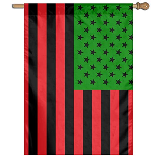 Pan-African American Flag Welcome Garden Flag Yard Flag Family Flag 27'x37'