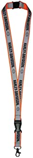 Reflective Safety Orange Double Sided H-D Script Lanyard LY21773