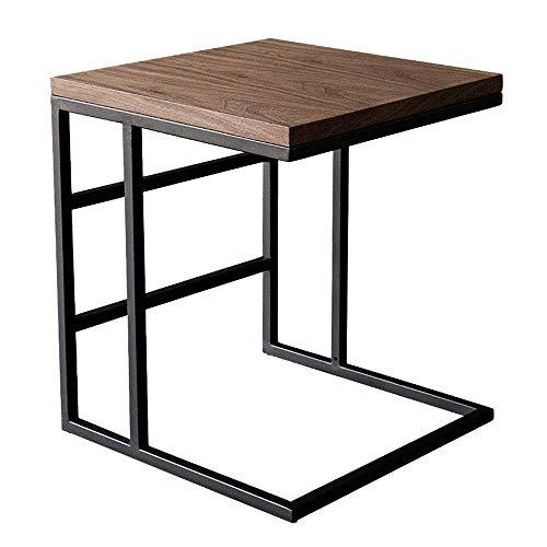 Meubles de maison, table d'appoint de canapé, table en forme de C Table d'ordinateur portable plateau de café à côté du canapé-lit Station de travail portable, 17,7 \