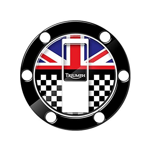 YINYANG Caja del Protector del Protector del Tanque de Gas de la Etiqueta engomada de la Motocicleta 3D para Triumph Daytona Bonneville Tiger (Color : Red)
