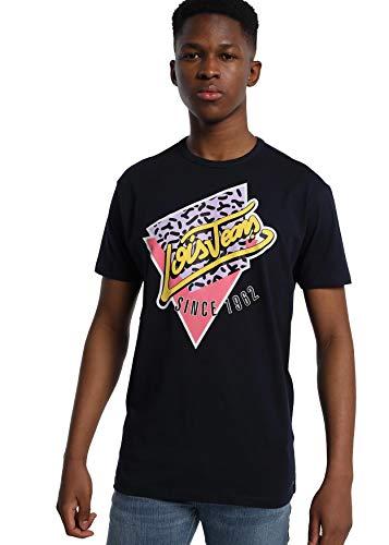 LOIS JEANS - Camiseta con Estampado para Hombre   De Algodón   Tallaje en Pulgadas   Talla Inch - M