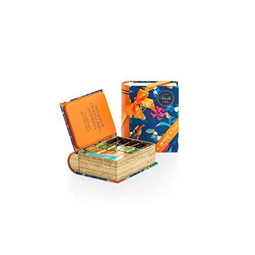 Venchi Collezione Gemme - Set Regalo con Cioccolatini Cremini Assortiti, Mini Libro in Latta 169g - Senza Glutine