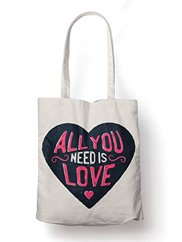 BLAK TEE All You Need is Sex Valines Day Slogan Organic Cotton Reusable Shopping Bag Natural