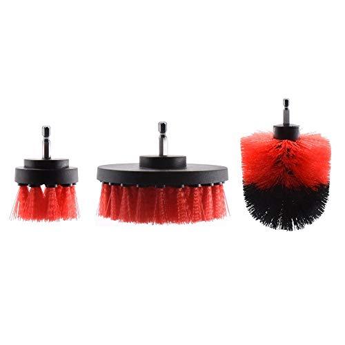 Nologo KUQIQI 3 & 5Pcs Strom Scrubber-Pinsel-Set for Badezimmer Bohrer Bürsten Cordless Befestigung Kit Leistung Toilettenbürste Elektroreinigungsbürste,Hohe Qualität (Farbe : Rosa)