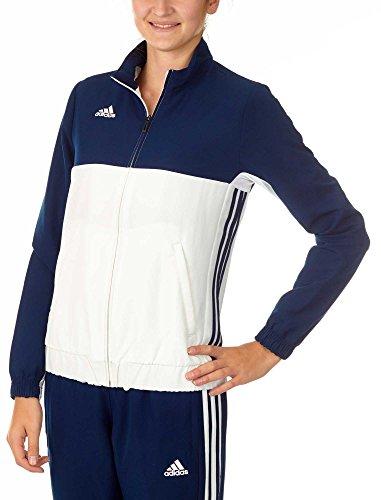 adidas Chaqueta T16Team JKT W, Todo el año, Mujer, Color Azul/Blanco, tamaño S