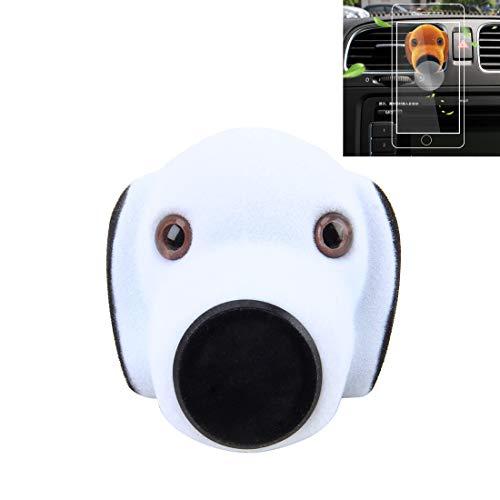 Pfjbdg Car Cartoon Difusor Ambientador Perfume Vent Clip Styling Soporte magnético Soporte del teléfono (Color : Blanco)