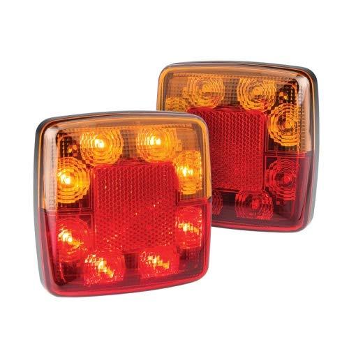 Juego de faros traseros o traseros LED, serie 98, intermitentes, traseros, de freno, reflectores