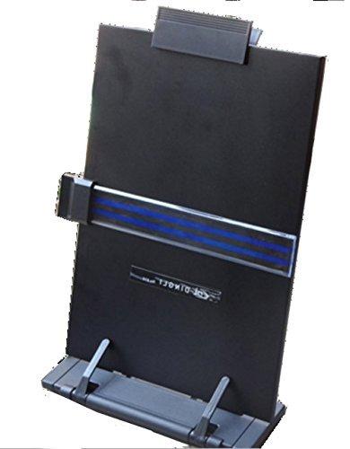 My desk 縦型 ブック スタンド 折りたたみ式 書見台 データホルダー バインダー (01.ブラック 縦型 x1)