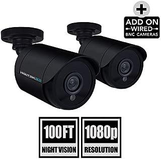 Night Owl Security 2 Pack Add-On 1080P Wired Bullet Cameras, Black (CAM-2PK-HDA10B-BU)