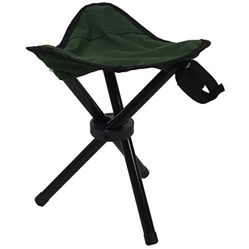 Henanyimeixiang Chaise Trépied Pliant Tabouret d'extérieur Siège de Camping Portable Pêche légère Chaise Nouveau (Color : Green)