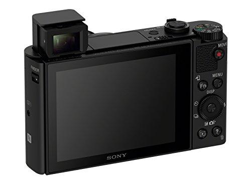 Sony DSC-HX80 Kompaktkamera (18,2 Megapixel, 30x opt, Zoom, 7,5cm (3 Zoll) Display, OLED Sucher, 180° Selfie-Display) schwarz