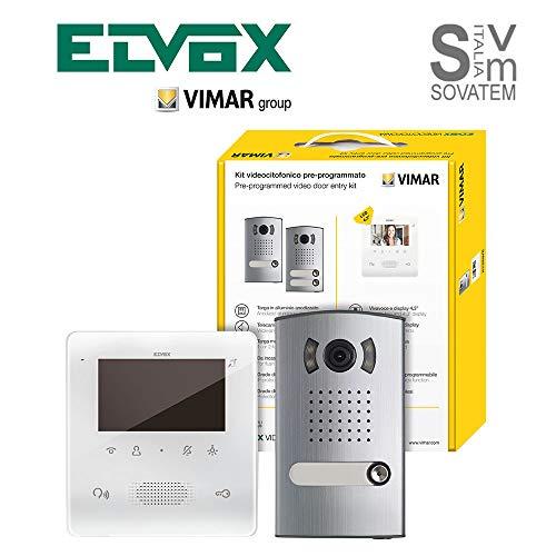 Elvox 7558/E 2 Draht mit Monitor, mit Tab, VV