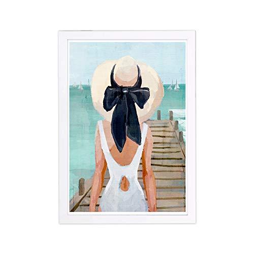 Wynwood Studio Nautical Framed Wall Art Prints 'Seagreen Pier' Coastal Home Décor, 13