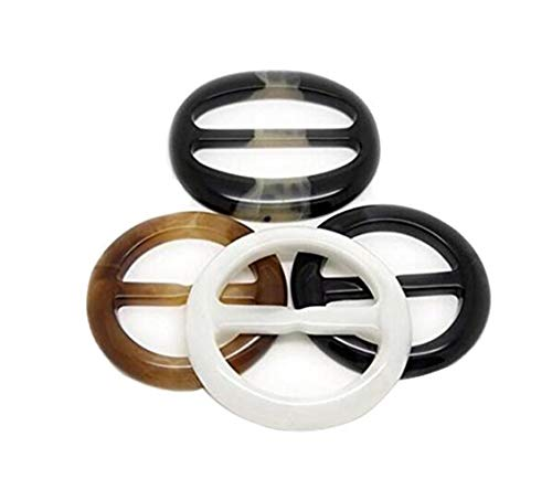 6PCS Women Lady Girls Resin Round Circle Scarves Buckle Scarf Clip Scarf Ring Wrap Holder Clamp Silk Sarf Clasp for Clothing Neckerchief T-Shirts Color Random Size 5cm/2inch