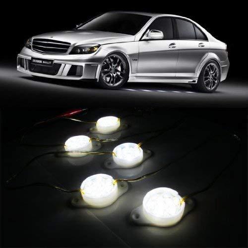 iJDMTOY Mercedes-Benz Brabus Style 90-LED Under Car Foot Area Illumination LED Puddle Lights, Xenon White