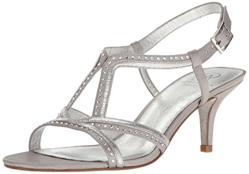 Adrianna Papell Women's Agatha Dress Sandal, Silver, 8 US/8 M US