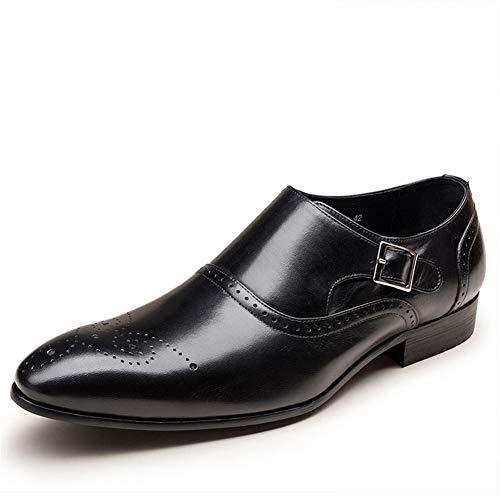 Qianliuk Männer Formale Schuhe Vintage Brogue Oxford Schuhe Mode PU Leder Doppel Mönch Schnalle Schuhe für Hochzeitskleid
