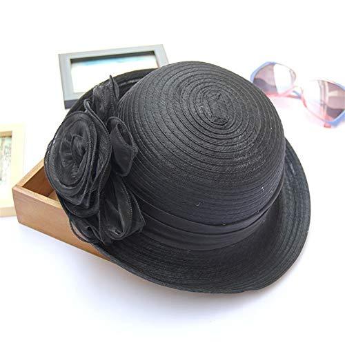 XinQuan Wang Lente en zomer hoed elegante retro bloempotten Ms. Eugen garen hoed krimpen kleine hoed zonnehoed tij