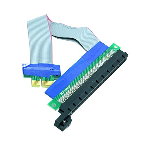 Occus - Cables 100pcs / Lots PCI-E Express 1x to 16x Extension Flex Cable Extender Converter Riser Card Adapter 20cm,by UPS DHL TNT - (Cable Length: 0.2m)