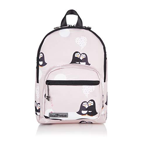 Shagwear Kinder Rucksack mit Tiermotiv, Klassische Form, für Schüler/Studenten/Kinder, Tasche für Schule/Picknick/Reisen (Pinguin/Penguin)