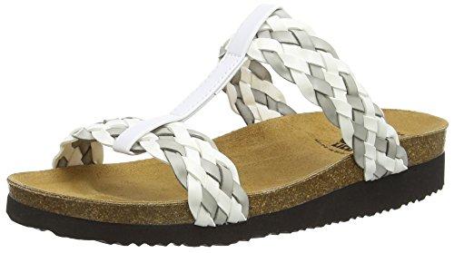 Lico Natural Fashion, Pantofole a Collo Basso Donna, Bianco (Weiss/Hellgrau Weiss/Hellgrau), 42 EU