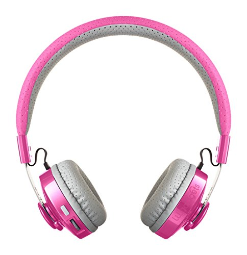 LilGadgets Untangled Pro Premium Children's/Kid's Wireless Bluetooth Headphones with SharePort (Pink)