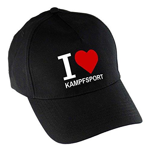 multifanshop Baseballcap Classic I Love Kampfsport schwarz 100% Baumwolle - Cap Kappe...