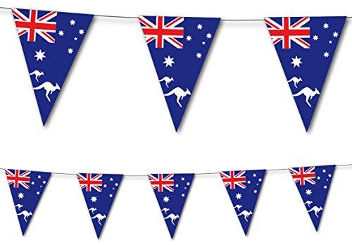 DH-Konzept NEU Wimpelkette Australien, 10 Flaggen, 20x30 cm