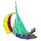 限定 レア ピンバッジ ボート船ヨット一人乗り ピンズ フランス
