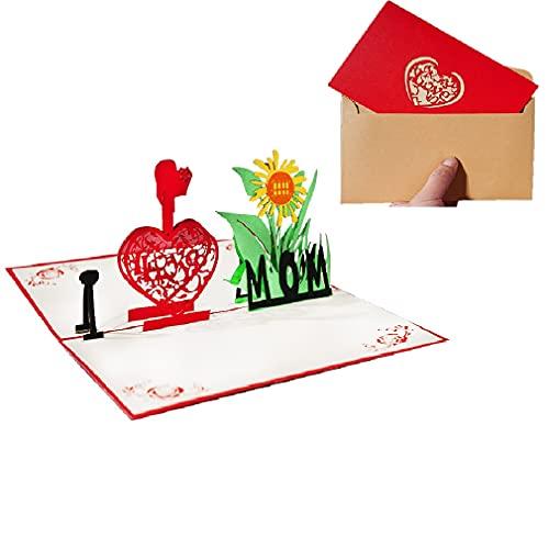 ポップアップカード、記念日カード夫、妻、ボーイフレンド、ガールフレンドのための誕生日カード、立体グリーティングカード メッセージカード (A4)