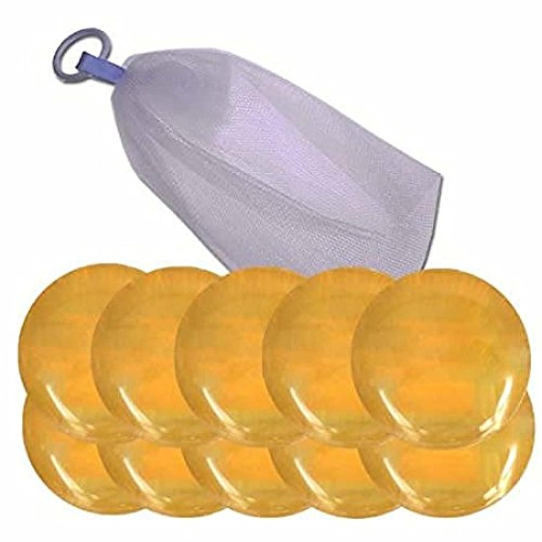 キャッシュアカデミッククレーン瑚泡美肌ハチミツ石けん100g×10個