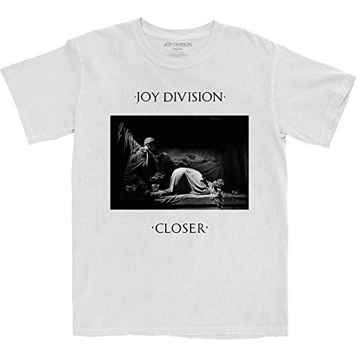 Joy Division Da Uomo Closer Maglietta Bianca