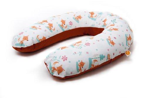millemarille Stillkissen 175 cm   Lagerungskissen & Schwangerschaftskissen   Bezug aus Ökotex-Baumwolle, waschbar   Füllung aus ungiftigen EPP Perlen   auch für Seitenschläfer   Sweet Foxes