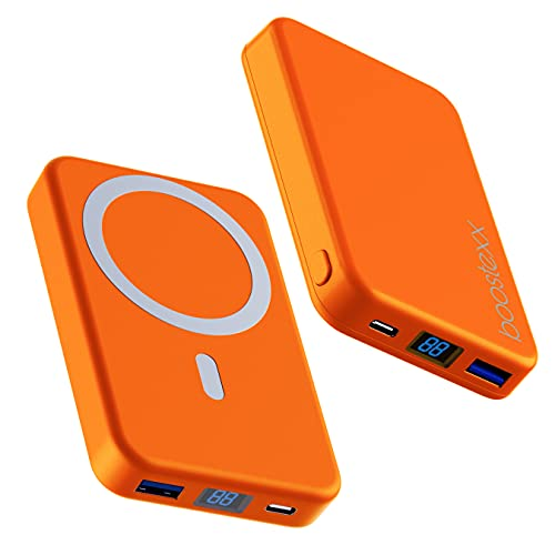 Batería Externa 10000mAh magnética,Powerbank 15/20W con Cable USB-C, Cargador de Alta Capacidad para Phone 12/12Pro/Max/Samsung/Xiaomi. Orange