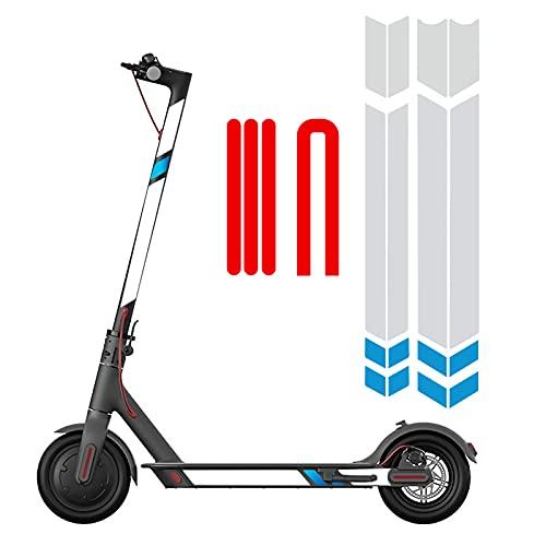 XunHe Pegatinas reflectantes para scooter, advertencia fluor
