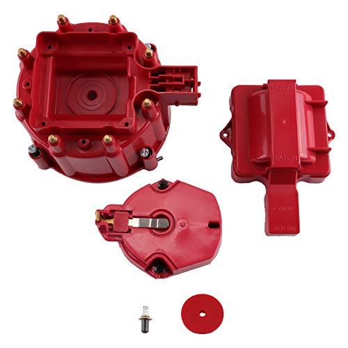MAS Performance Replacement Fits Red Male HEI Distributor Cap & Rotor for CHEVY GM SBC BBC 305 350 454