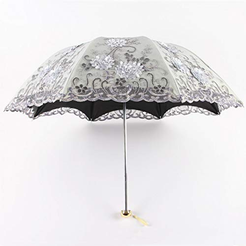 Ombrello Pieghevole Pioggia Donne Eleganti Ombrello In Pizzo Antivento Ombrellone Parasole Ombrelloni AntiUv Parasol Impermeabile