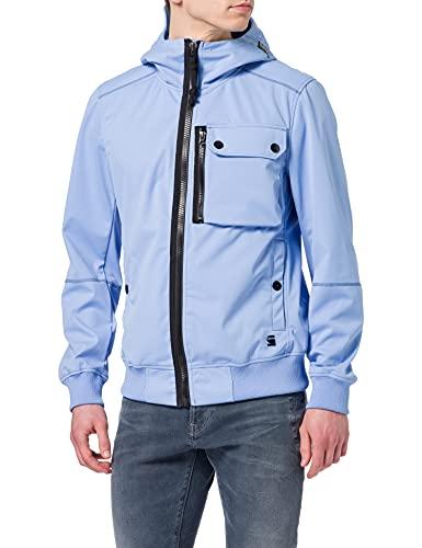 G-STAR RAW Mens Desert Storm Softshell Shell Jacket, Delta Blue/Imperial Blue C082-c259, XL