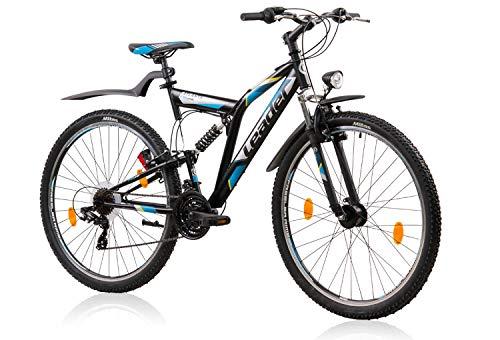 tretwerk DIREKT gute Räder ATB Leader Atlanta Street 26 Zoll Schwarz/Blau, Jugend-Fahrrad, Herren-Fahrrad, S