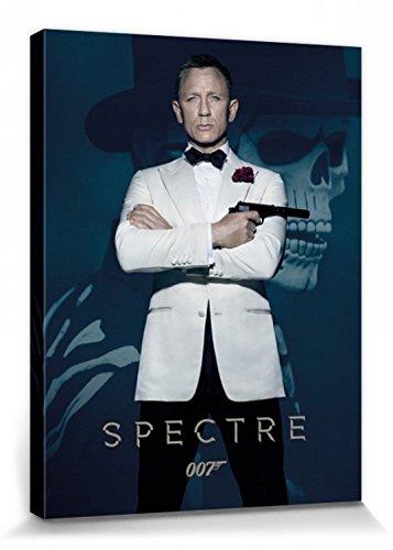 1art1 James Bond 007 - Spectre, Daniel Craig Bilder Leinwand-Bild Auf Keilrahmen | XXL-Wandbild Poster Kunstdruck Als Leinwandbild 80 x 60 cm