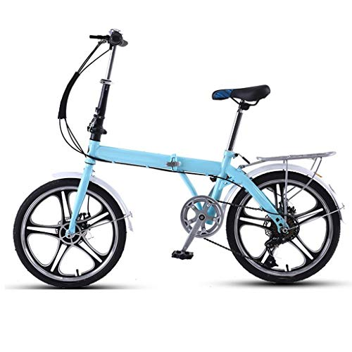 Lowest Price! 20 Inch Compact Bike Bicycle Aluminum Car Circle Womens Bike Lightweight Foldable Bicy...
