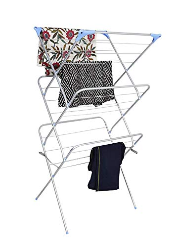 Vmax New Arier Cloth Drying Stand/Foldable drying Racks/Rust Proof Cloths Drying Stand (silver) - 3-Tier