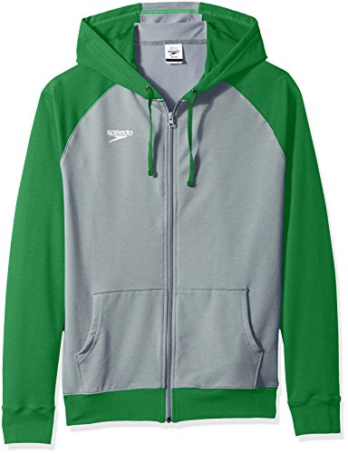 Speedo Unisex Full Zip Hoodie Sweatshirt, Medium, Green