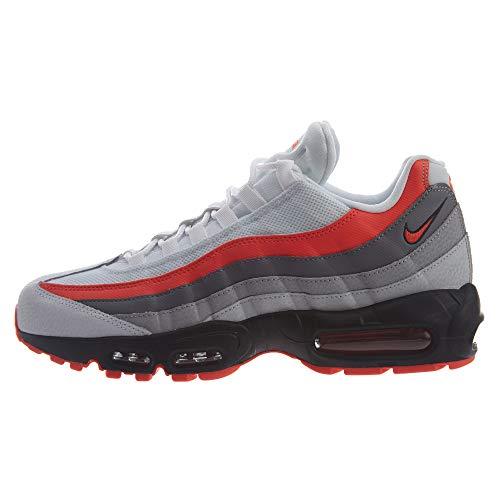 Nike Men's Air Max 95 Essential Gymnastics Shoes, White (White/Bright Crimson/Black/Pur 112), 10.5 UK