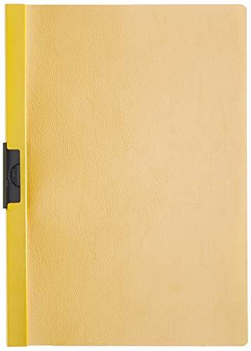 Durable 220904 Hunke und Jochheim Klemm-Mappe, Hartfolie, 60 Blatt, transparent/gelb